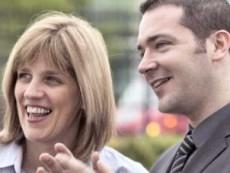 Helga Muir with Denis Finnegan